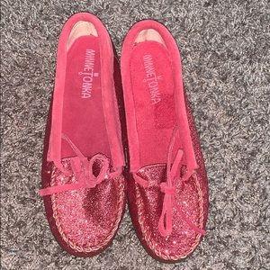 Pink Glitter Minnetonka